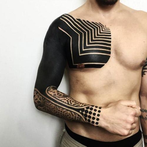 tatuajes hombres blackwork a color 4