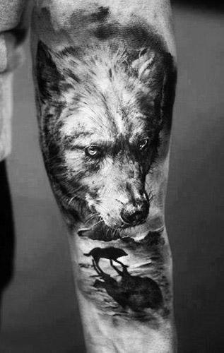 tatuajes lobos 3D 2 - tatuajes de lobos