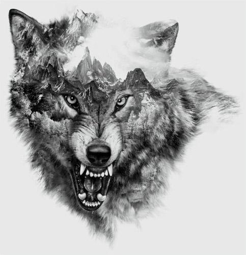 tatuajes lobos diseños 1 - tatuajes de lobos