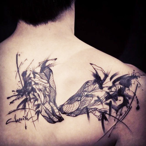 tatuajes lobos espalda 1 - tatuajes de lobos