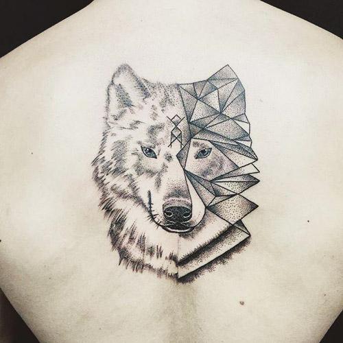 tatuajes lobos espalda 2 - tatuajes de lobos