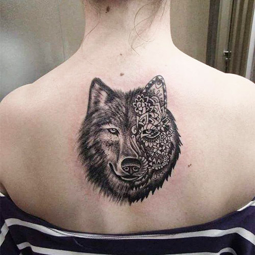 tatuajes lobos espalda 3 - tatuajes de lobos