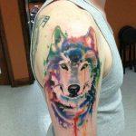 tatuajes lobos hombro brazos 6 150x150