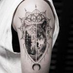tatuajes lobos hombro brazos 7 150x150