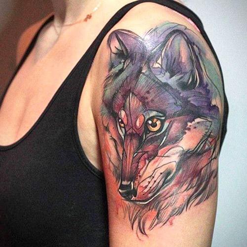 tatuajes lobos para mujeres 3 - tatuajes de lobos