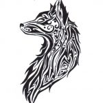 tatuajes lobos tribal 1 150x150