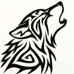 tatuajes lobos tribal 2 150x150