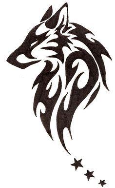 tatuajes lobos tribal 3 - tatuajes de lobos