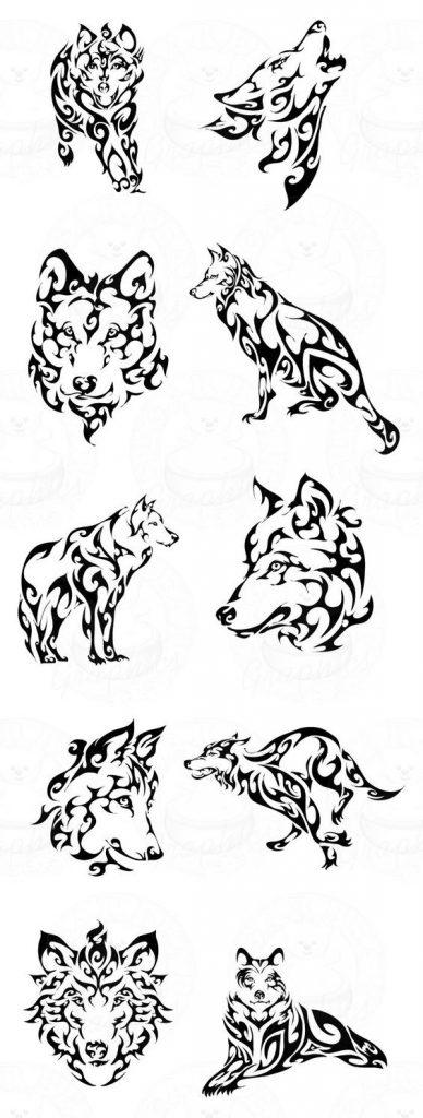 tatuajes lobos tribal 5 - tatuajes de lobos