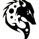 tatuajes lobos tribal 6 150x150