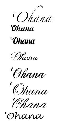 diseños tatuajes ohana 2