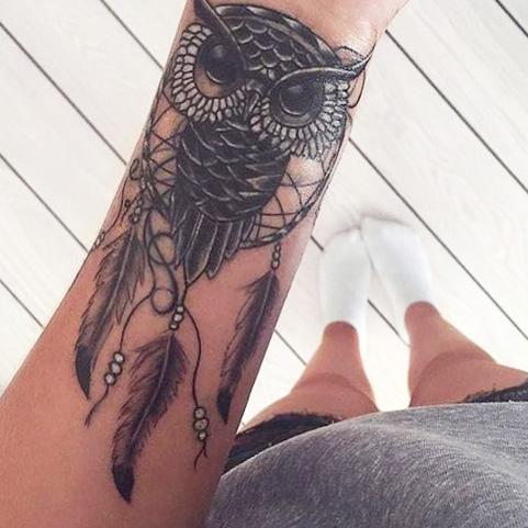 tattoo buhos lechuzas atrapasueños 1 - tatuajes de búhos