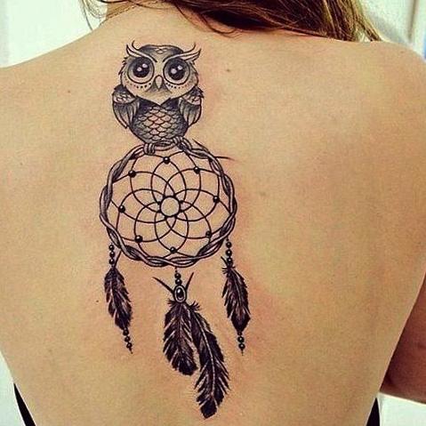 tattoo buhos lechuzas atrapasueños 2 - tatuajes de búhos