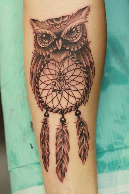 tattoo buhos lechuzas espanta sueñoos 1 - tatuajes de búhos
