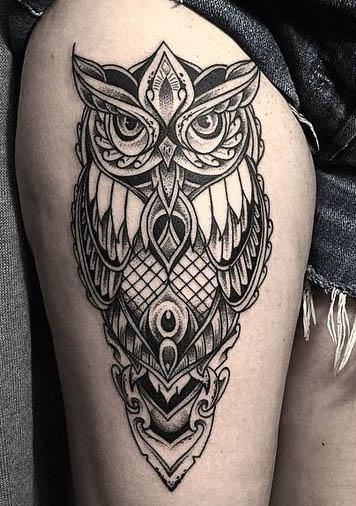tattoo calaveras buhos calaveras 2 - tatuajes de búhos