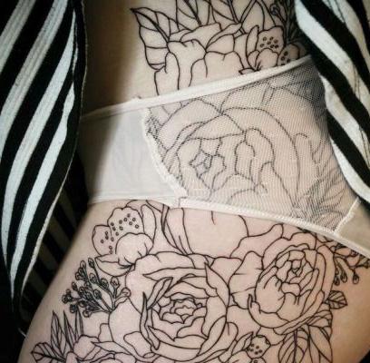 tattoo cola pompa nalgas 1 - tatuajes íntimos