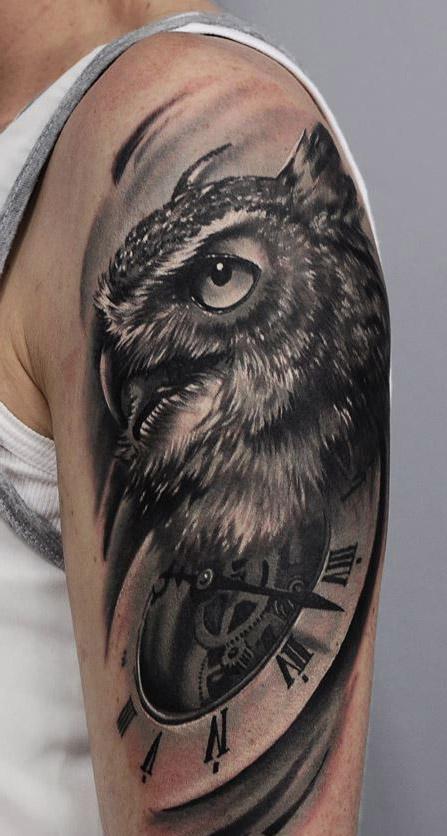 tattoo lechuza buhos brazos 2 - tatuajes de búhos