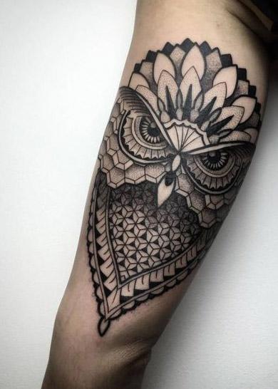tattoo lechuza buhos brazos 3 - tatuajes de búhos