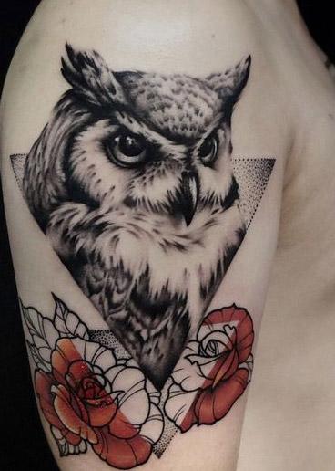 tattoo lechuza buhos brazos 4 - tatuajes de búhos