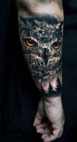 tattoo lechuza buhos brazos 6 - tatuajes de búhos