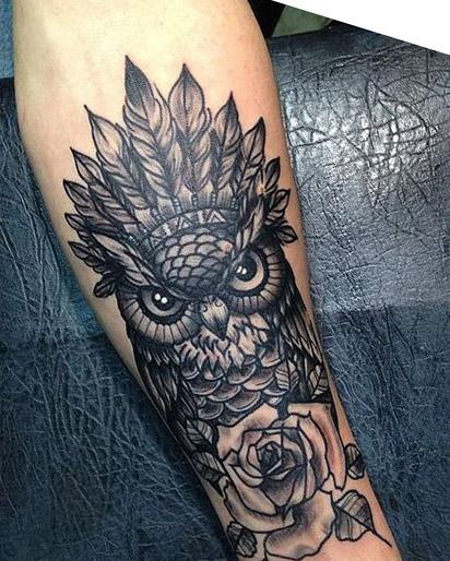 tattoo lechuza buhos brazos 7 - tatuajes de búhos