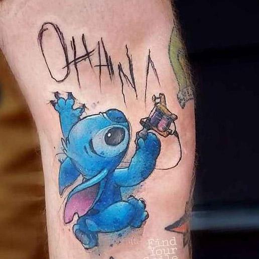 tattoo lilo stitch ohana 7
