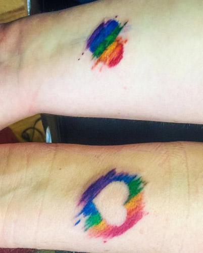 tattoo parejas corazones 2 - tatuajes de corazones