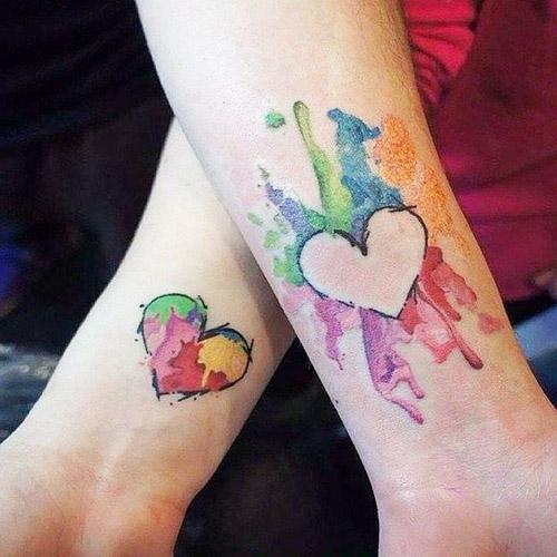 tattoo parejas corazones 6 - tatuajes de corazones