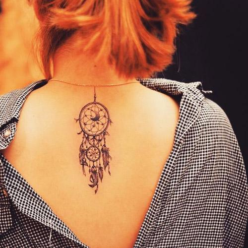 tatuajes atrapasueños espalda 1