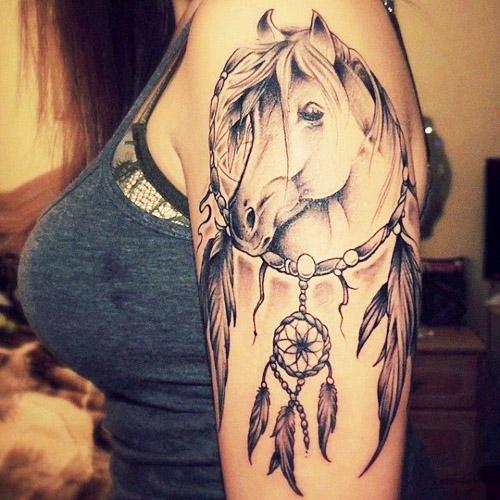 tatuajes atrapasueños para mujeres 9