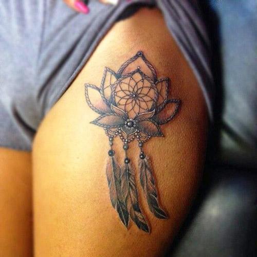 tatuajes atrapasueños piernas 1