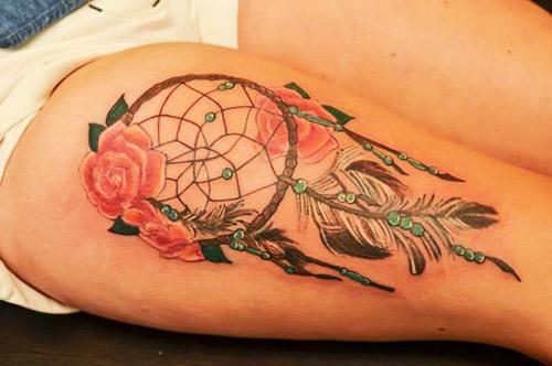 tatuajes atrapasueños piernas 3