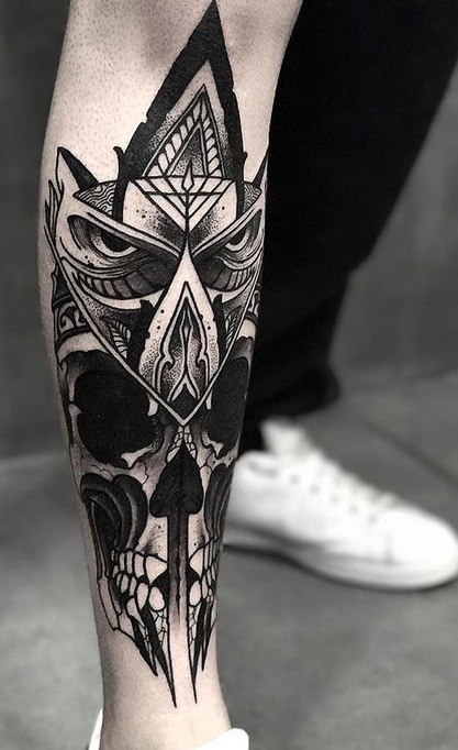 tatuajes buhos lechuzas hombre brazo tattoo 1 - tatuajes de búhos