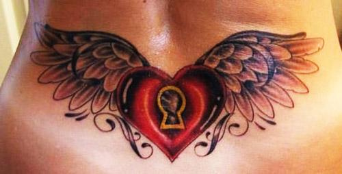 tatuajes corazones alas 5 - tatuajes de corazones