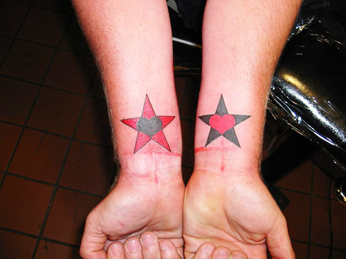 tatuajes corazones estrellas 4 - tatuajes de corazones