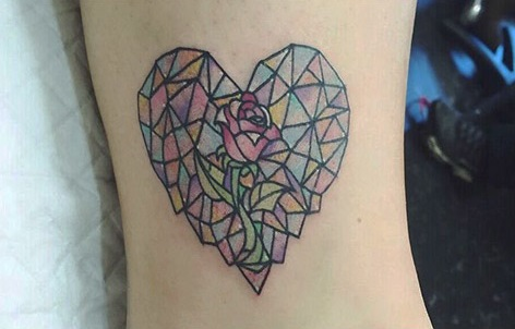 tatuajes corazones rosas 2 - tatuajes de corazones