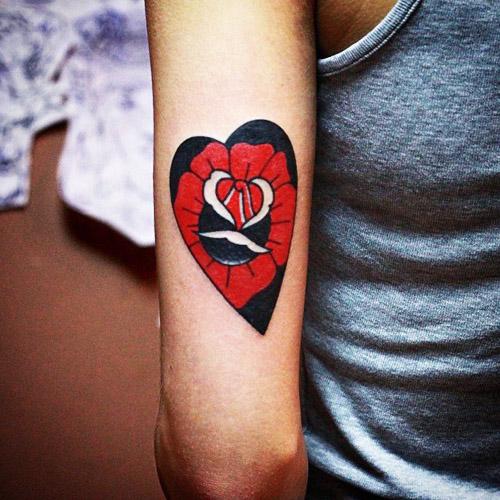 tatuajes corazones rosas 3 - tatuajes de corazones