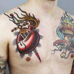 tatuajes corazones rotos apuñalados 3 150x150
