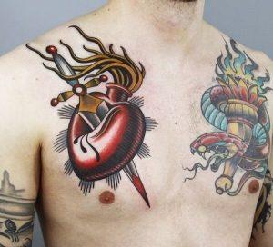 tatuajes corazones rotos apuñalados 3 300x272
