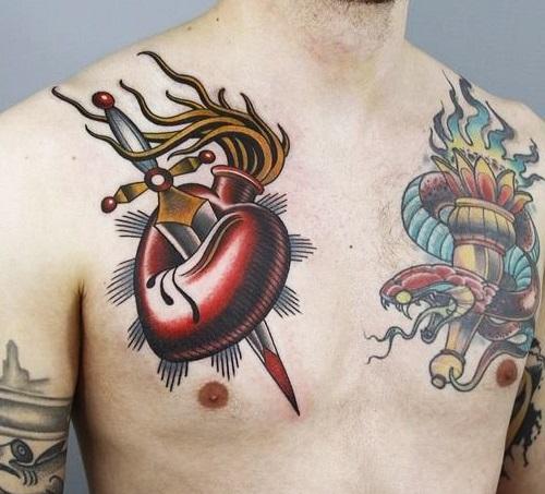 tatuajes corazones rotos apuñalados 3 - tatuajes de corazones