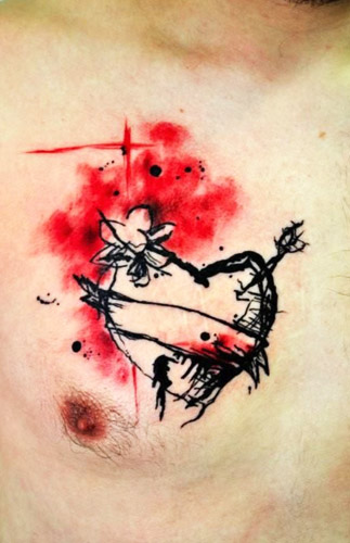 tatuajes corazones rotos apuñalados 5 - tatuajes de corazones