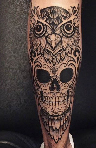 tatuajes cuhos lechuzas catrinas 2 - tatuajes de búhos