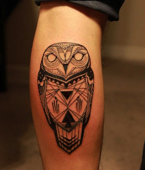 tatuajes de buho tribal
