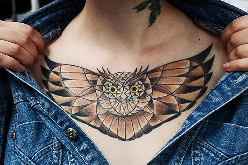 tatuajes de buhos tribales 1