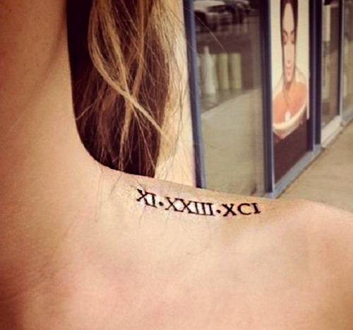 tatuajes numeros romanos hombro 3