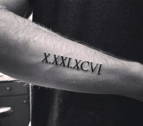tatuajes numeros romanos nacimientos 2 - tatuajes de números romanos