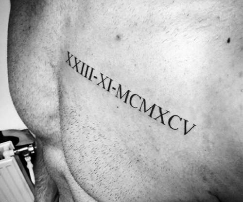 tatuajes numeros romanos para hombres 2