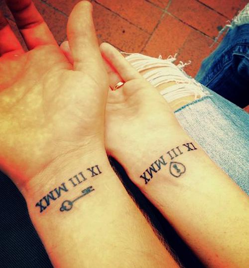 tatuajes numeros romanos para parejas 2