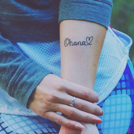 tatuajes ohana en el brazo tattoo 4