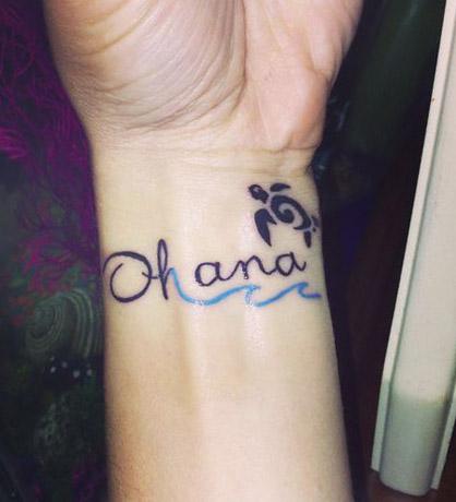 tatuajes tattoo ohana muñeca 1